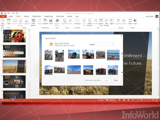 Pull online pics into PowerPoint