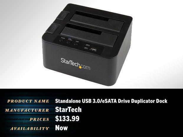 Standalone USB 3.0/eSATA Drive Duplicator Dock