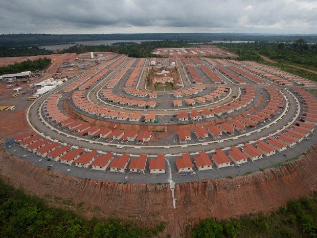 Belo Monte dam on the Xingu River