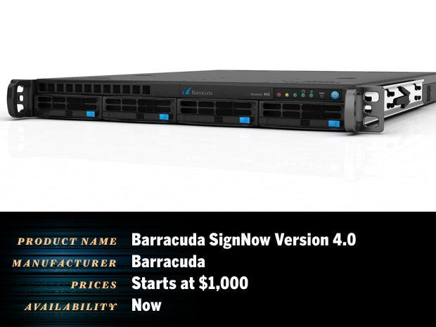 Barracuda SignNow version 4.0