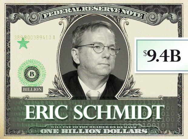 Eric Schmidt, $9.4B