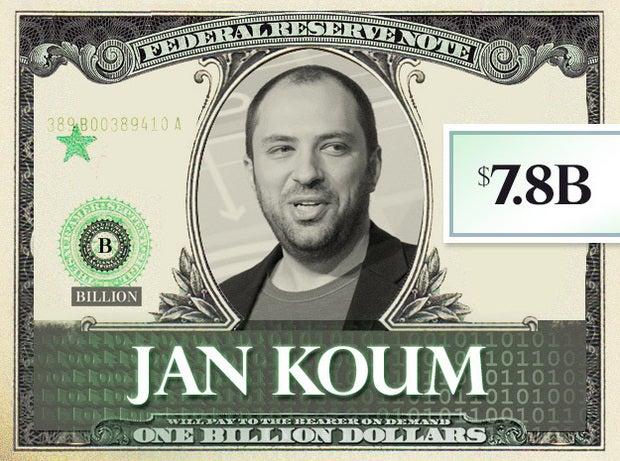 Jan Koum, $7.8B