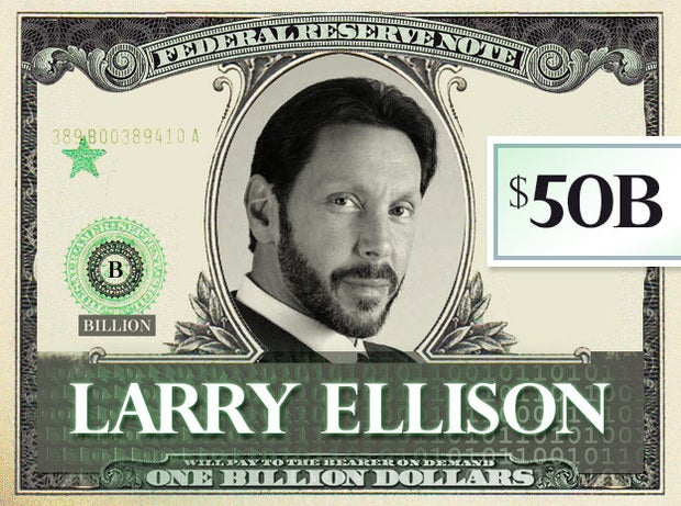 Larry Ellison, $50B