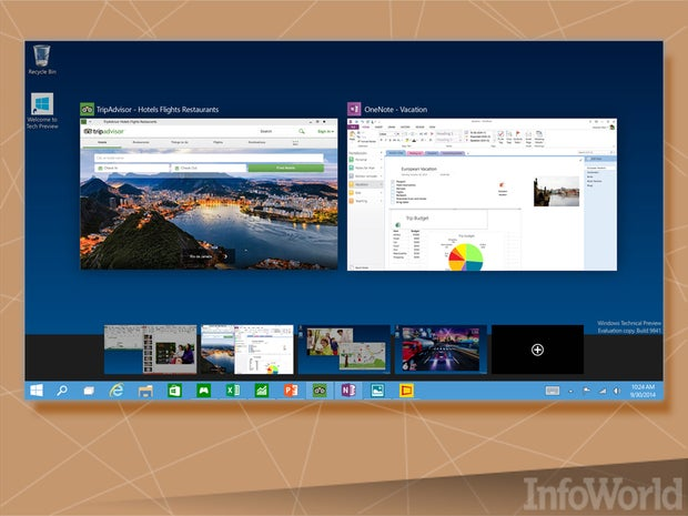 The Windows 10 Desktop gets multiple desktops