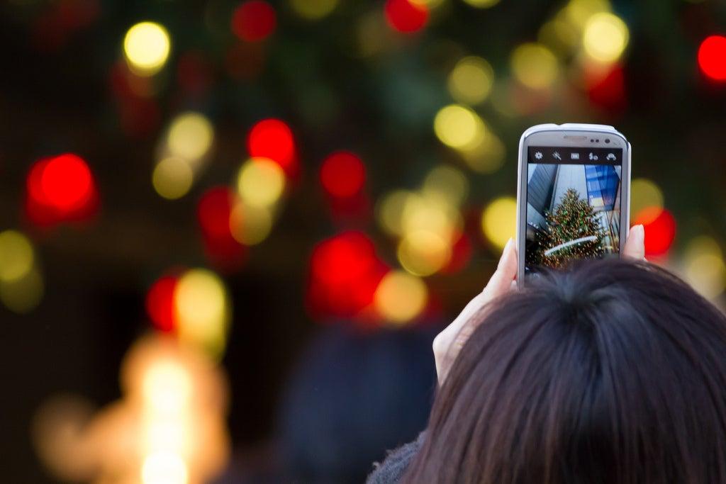 Christmas lights smartphone