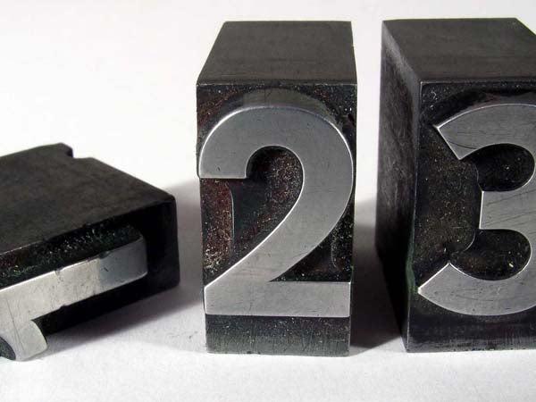 ranking one two three 1 2 3 numbers