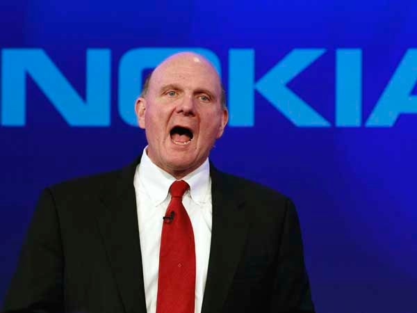 Ballmer at Nokia event