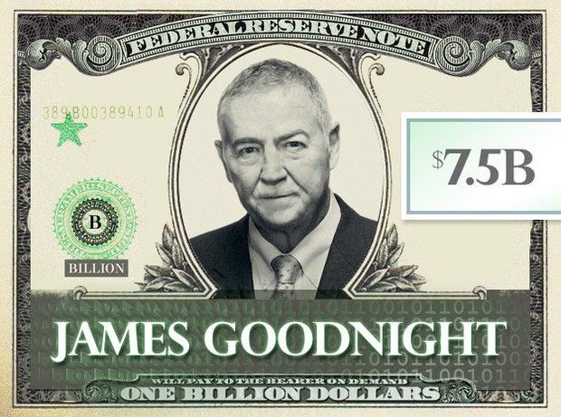James Goodnight, $7.5B