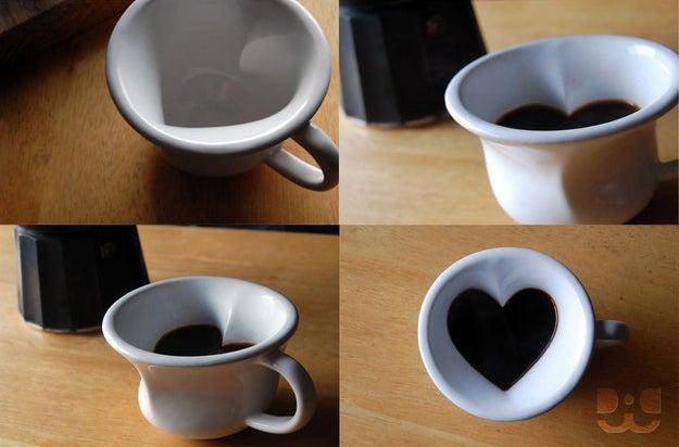 Hidden heart mug