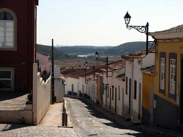 Looking down a street in The Algarve, Portugal