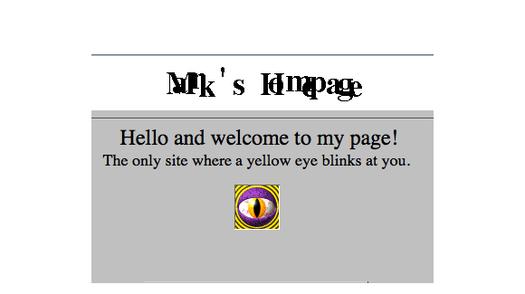 Mark Zuckerberg's Angelfire site from 1999
