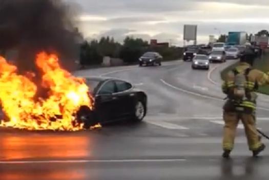 Tesla's fire and test drive fail