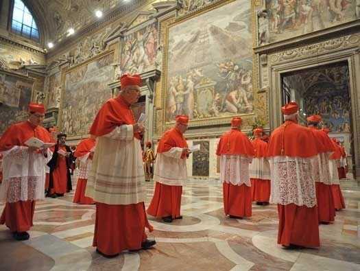 No telecommuting for the College of Cardinals
