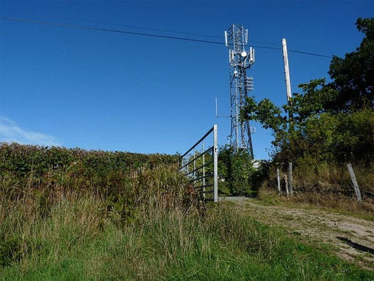 Wireless tower in rural area