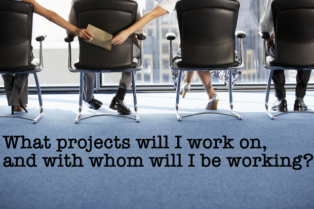 What projects will I work on, and with whom will I be working?