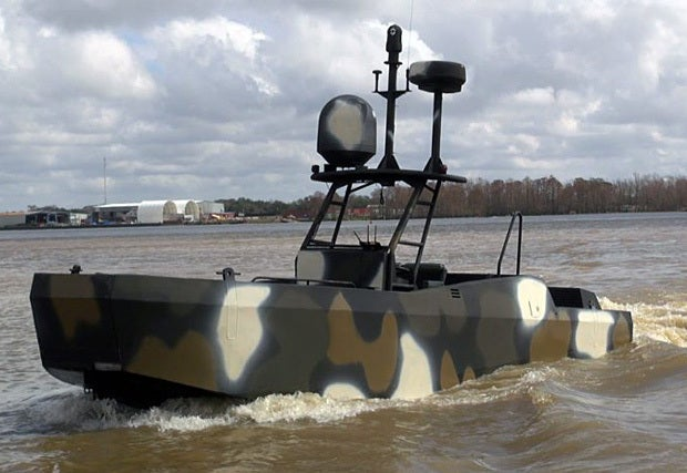 iPad-controlled robot combat boats