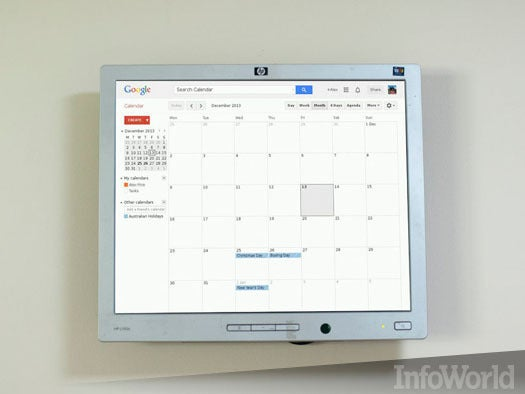 Raspberry Pi wall-mounted calendar