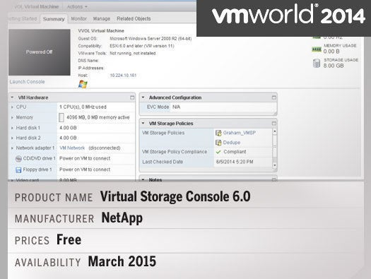Virtual Storage Console 6.0 with support for VMware Virtual Volumes
