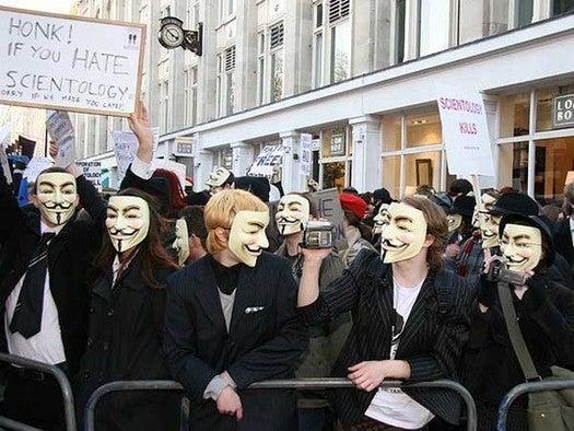 Anonymous protestors