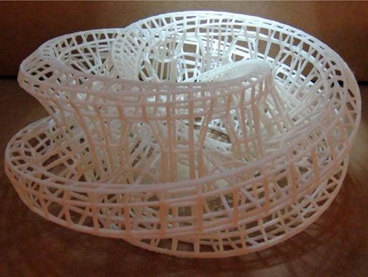 3D printed spiral art