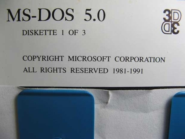 MS-DOS floppy disk