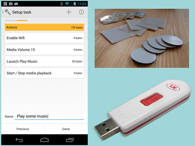 Trigger app, generic NFC tags, ACS tag writer