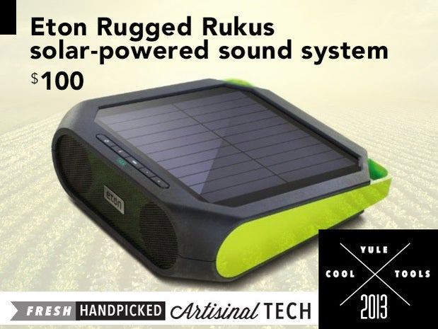 Eton Rugged Rukus solar-powered sound system