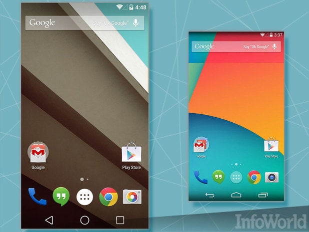 Android L: A more subdued home screen