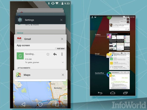 Android L: The carousel of recent apps