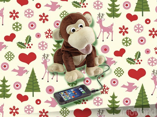Interactive plush monkey