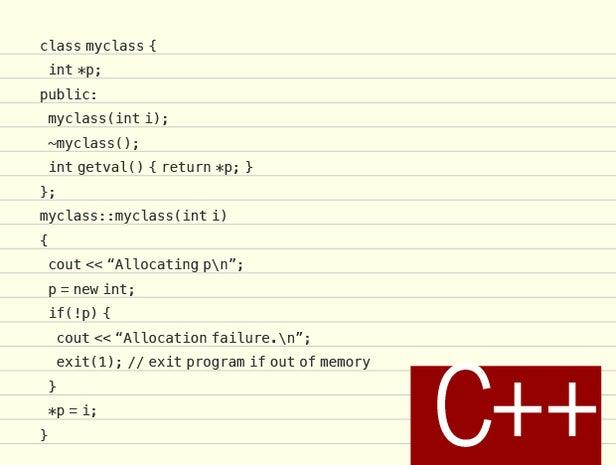 C++ code sample