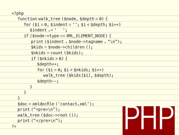 PHP code sample