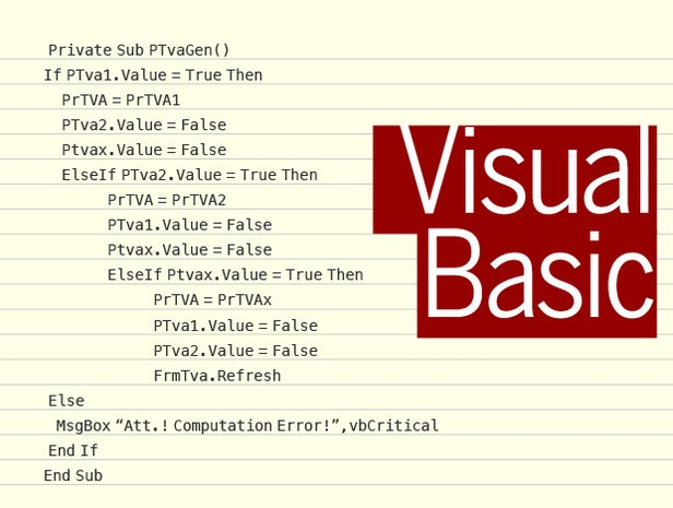 Visual Basic code sample