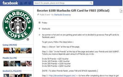 Starbucks giftcard offer