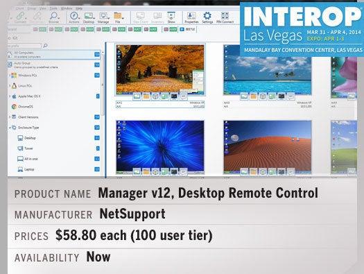 NetSupport Manager v12, Desktop Remote Control
