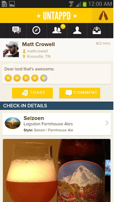 Untappd (Android, iOS, both free)