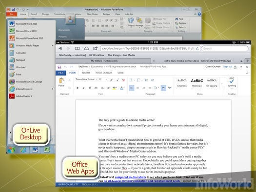 Microsoft Office Web Apps, OnLive Desktop