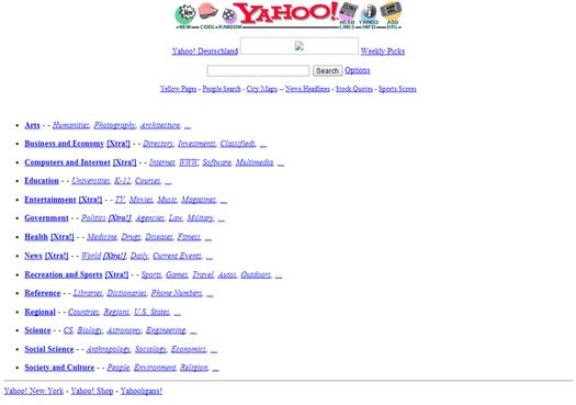 Yahoo.com circa 1996
