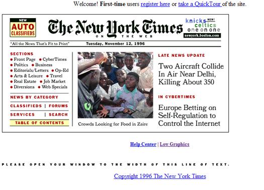 NYtimes.com circa 1996