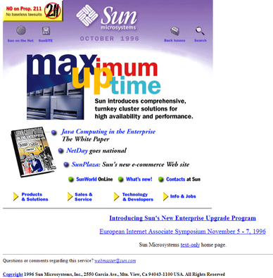 Sun.com circa 1996