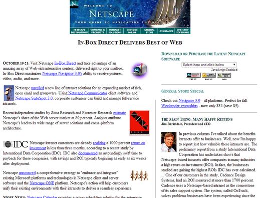 Netscape.com circa 1996