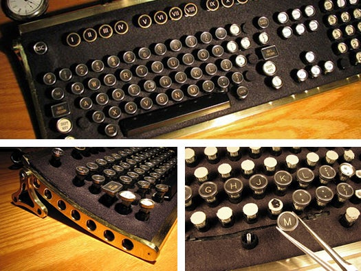 von Slatt steampunk keyboard