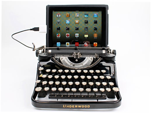 iPad on Underwood typewriter