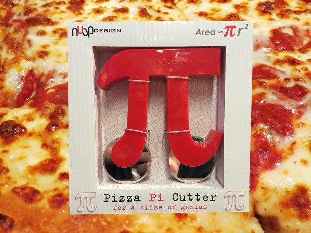Cut your pizza pie with a pi cutter
