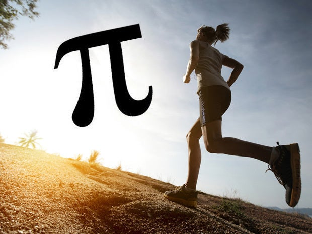 Go for a run of Pi miles (or kilometers if you want to shorten it up slightly)