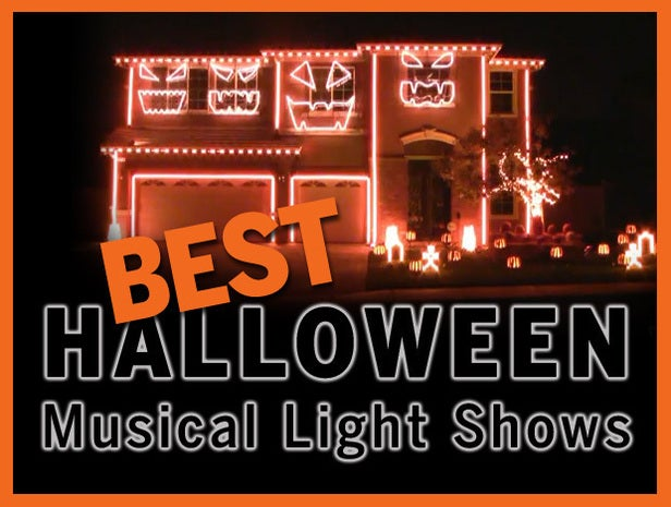 Halloween light displays