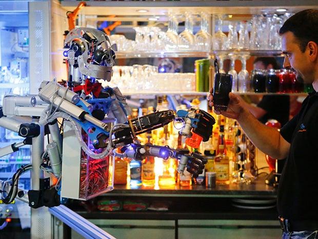 humanoid robot bartender