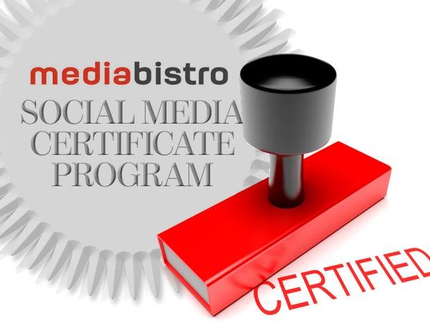 Mediabistro Social Media Certificate Program