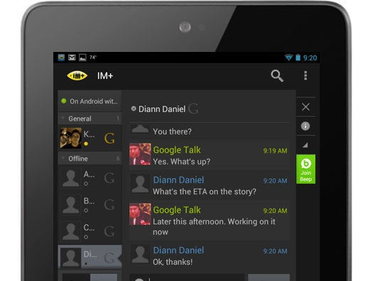 IM+ for Android Tablets