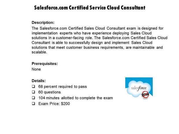Salesforce.com Certified Service Cloud Consultant certification